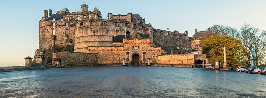 La spianata del Castello di Edimburgo
