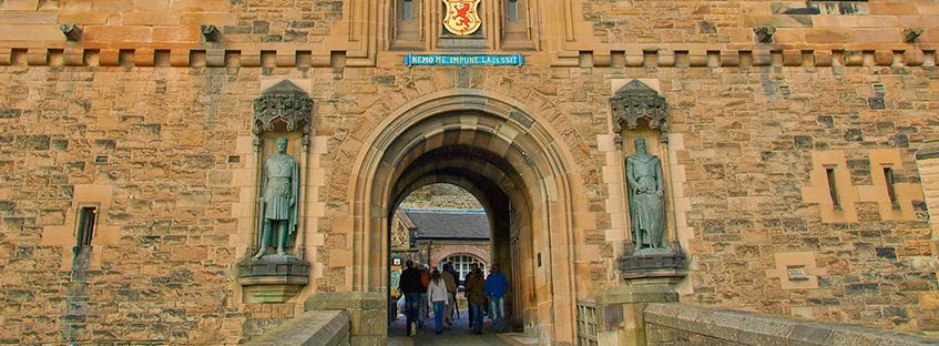La porta d'ingresso del Castello di Edimburgo