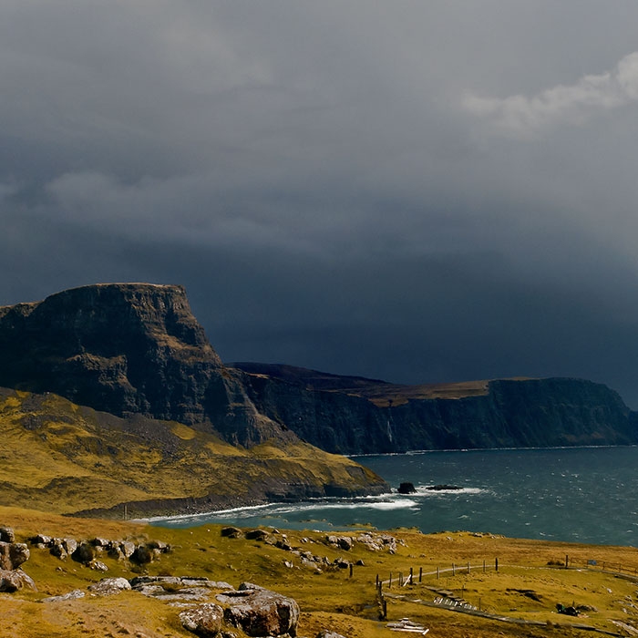 scogliera isola di Skye