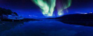L'aurora boreale in Scozia