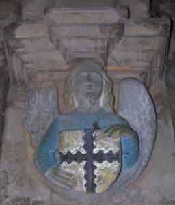 Angelo con lo stemma della famiglia Sinclair alla cappella di Rosslyn