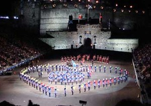 Una performance al Military Tattoo