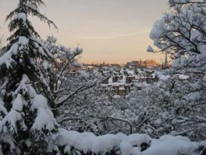 Clima in Scozia: Edimburgo con la neve