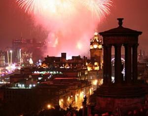 Visitare la Scozia Fuochi d'artificio da Calton Hill
