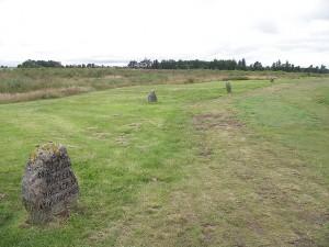 Lapidi nel campo di battaglia di Culloden