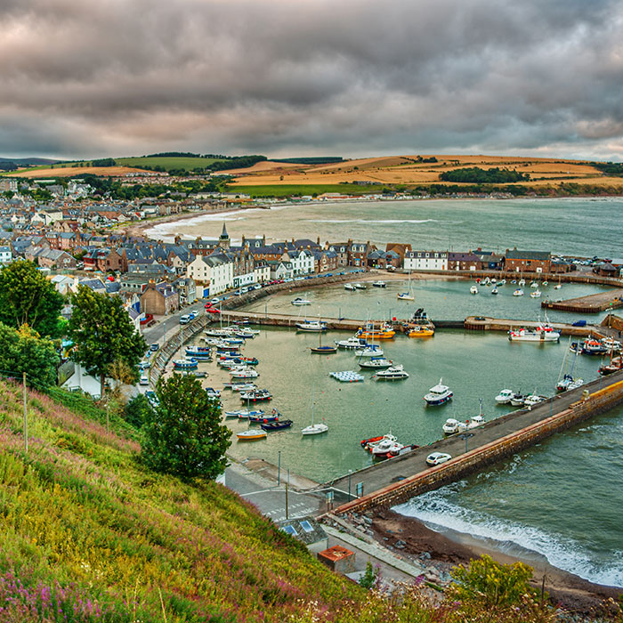 panorama di Stonehaven in Aberdeenshire