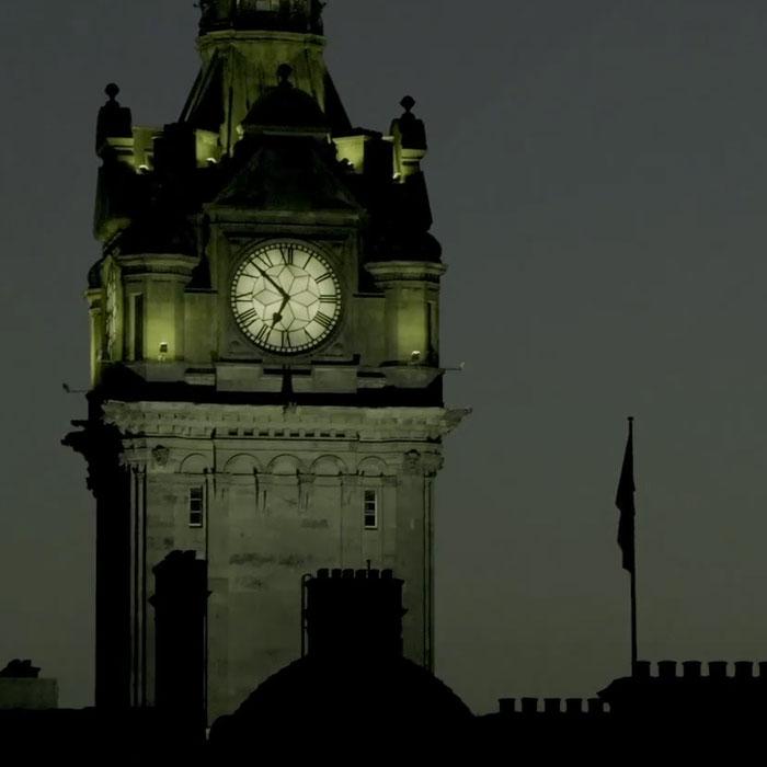 torre Balmoral nel tour dei fantasmi di Edimburgo