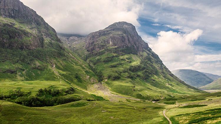 Le Three Sisters della Valle di Glencoe